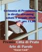"""Diretta streaming per la cerimonia di premiazione del Premio Città di Prato Arte di Parole """"Gianni Conti"""""""